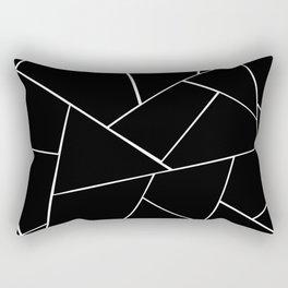 Black White Geometric Glam #2 #geo #decor #art #society6 Rectangular Pillow