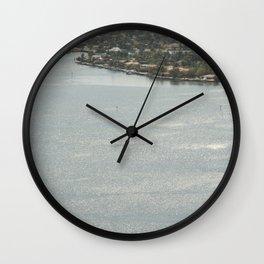 Biscayne Bay Skyline Wall Clock