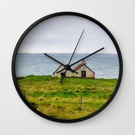 Twin Houses Wall Clock