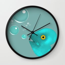 Silent as a Fish Wall Clock