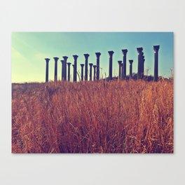 National Columns in Autumn Canvas Print
