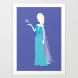 Elsa from Frozen Art Print