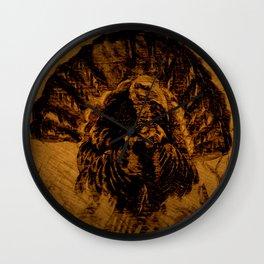 Turkey in The Straw DPPA150606 Wall Clock