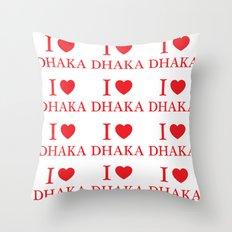 I Love Dhaka Throw Pillow