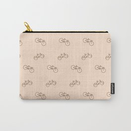 Bicycle sport pattern on white Carry-All Pouch