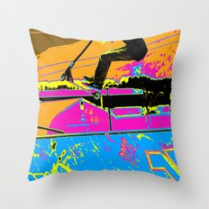 High-Flyin' Scooter Champ Throw Pillow