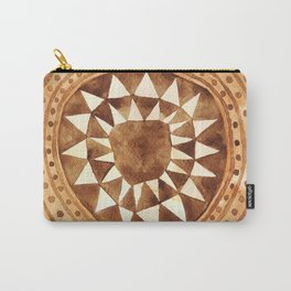 Tribal Triangle Circle Carry-All Pouch