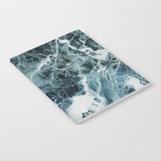Blue Sea Marble Notebook