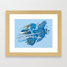 Near Miss Framed Art Print
