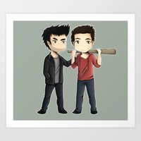 sterek Art Prints featuring Sterek by agartaart