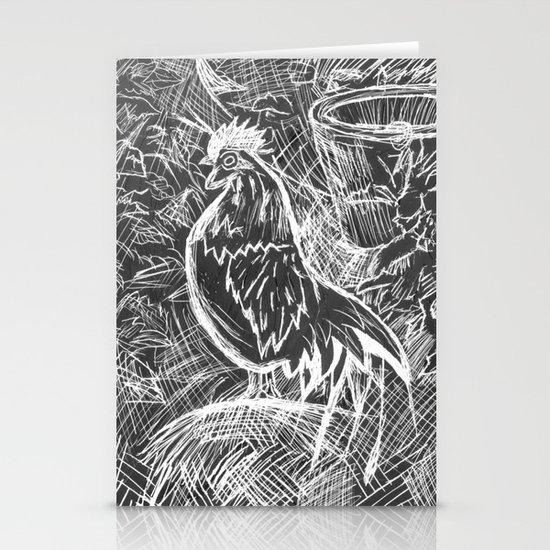 Chicken Scratch Stationery Cards