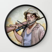 dale cooper Wall Clocks featuring Dale Horvath by poopbird