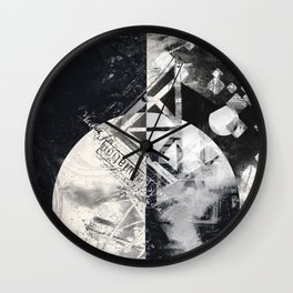 Transcience In Monochrome Wall Clock