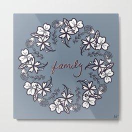 family floral wreath Metal Print