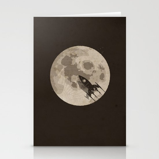 Around the Moon Stationery Cards