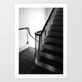 Staircase at Duportail House Art Print