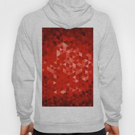 Red polygons Hoody