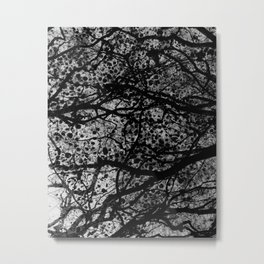 Entwined Branches And Marble Metal Print