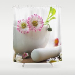 Wild herb still life for kitchen or practice Shower Curtain