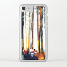 Autumn Hunt Clear iPhone Case