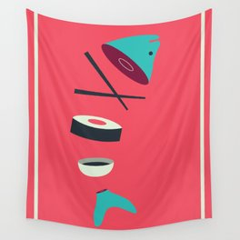 Sushi Fish Wall Tapestry