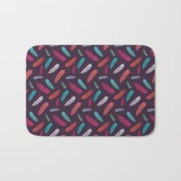 Colorful leaf seamless pattern design Bath Mat