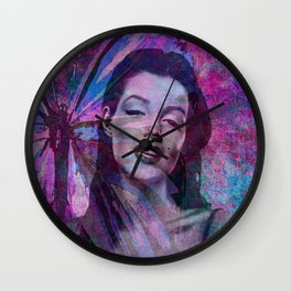 Marilyn: Young and Beautiful Wall Clock
