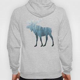 Misty Forest Moose Hoody