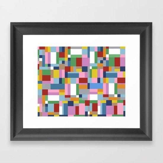 New Map Framed Art Print