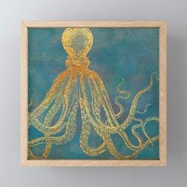 Deep Sea Life Octopus Framed Mini Art Print