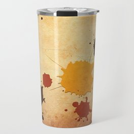 Abstract Indian Yellow Splash Travel Mug