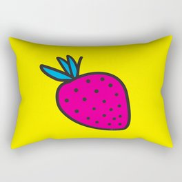 Strawberrious - Magenta/YELLOW Rectangular Pillow