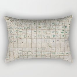 The Complete Voynich Manuscript - Natural Rectangular Pillow