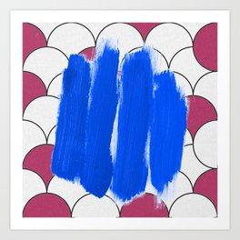 Blu Imperfection Art Print