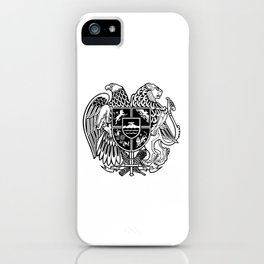 ARMENIAN COAT OF ARMS - Black iPhone Case