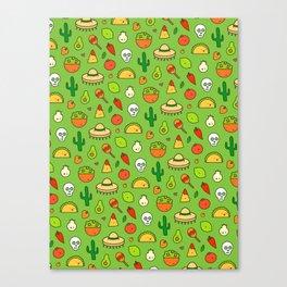 Viva Mexico - Cute Pattern Canvas Print