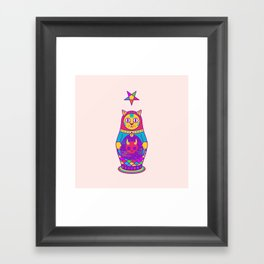 Malevolent Kitty Framed Art Print