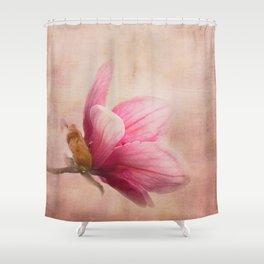 Pink Magnolia I - Flower Art Shower Curtain