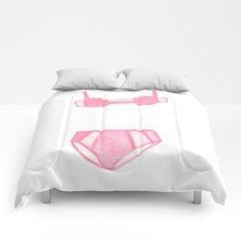Pink Undies Comforters