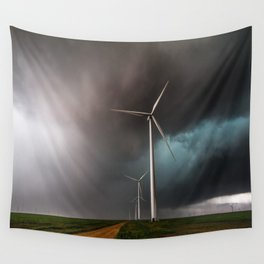 Wind Farm - Renewable Energy on the Texas Plains Wall Tapestry