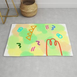 Life Is A Circus no.3 - pop colorful pattern abstract modern design Rug