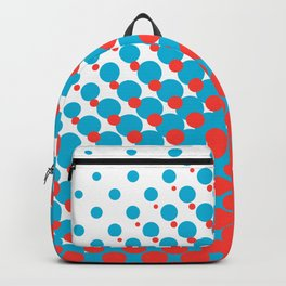 Blue and red halftone pattern Backpack