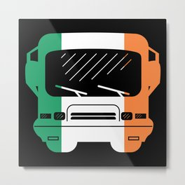 Irish Flag Classic Motorhome   Gift Metal Print