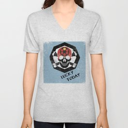 lucky today russian roulette Unisex V-Neck
