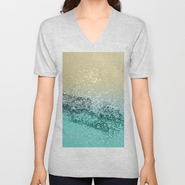 Lemon Twist Beach Glitter #2 #shiny #decor #art #society6 Unisex V-Neck