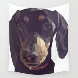 Geometric Sausage Dog Digitally Created Wall Tapestry