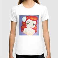rockabilly T-shirts featuring Rockabilly Redhead by Little Bunny Sunshine