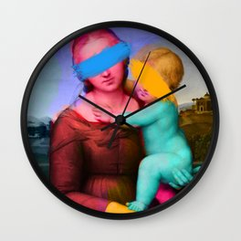 Raphael Classical Painting Remix Pop Art Wall Clock