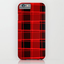 Bright intersections of light and bloody lines on a dark background. iPhone Case