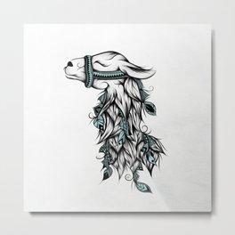 Poetic Llama  Metal Print